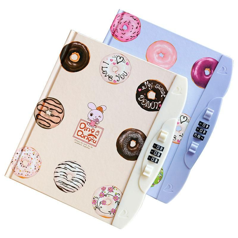 Creative Kawaii Notebook With Lock Code Personal Diary Memo Agenda