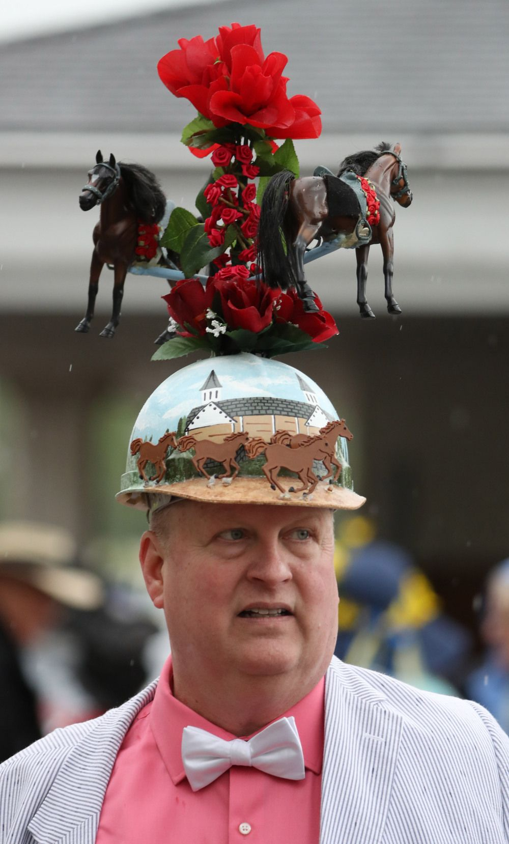 2b6f2487bf0 ... ireland kentucky derby hats were crazy in 2017 as always but we found  the best for