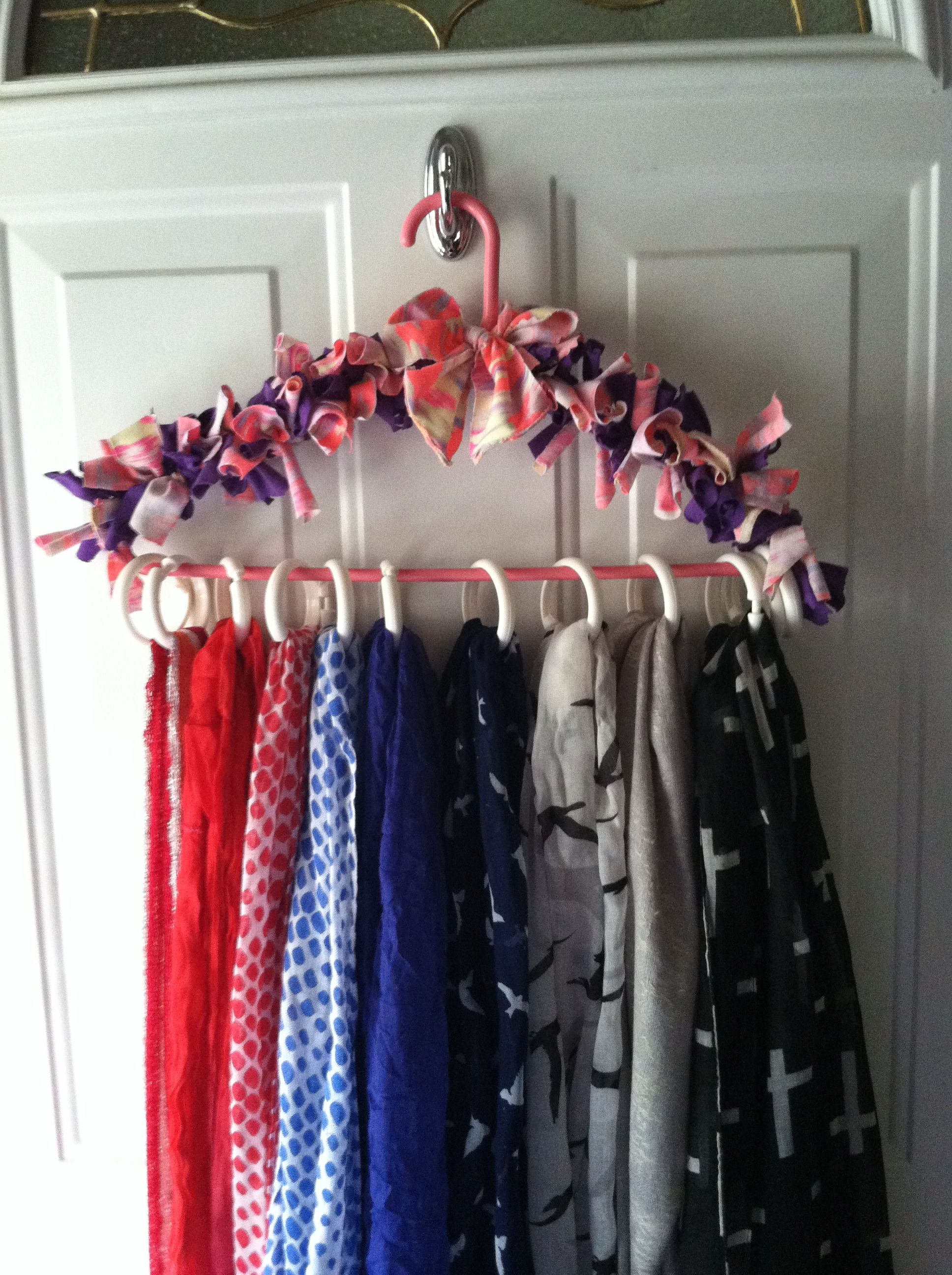 Just Made This Super Cute Scarf Holder Everything I Used