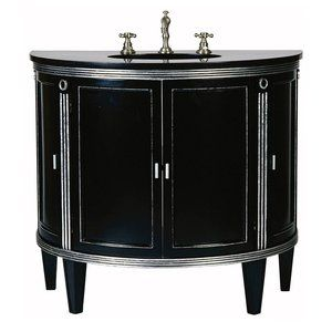 Ambella Home 02141 110 302 Park Avenue Sink Chest Bath Vanity, Painted Black