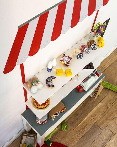 Kaufladen basteln mit Wandtattoo passend für IKEA