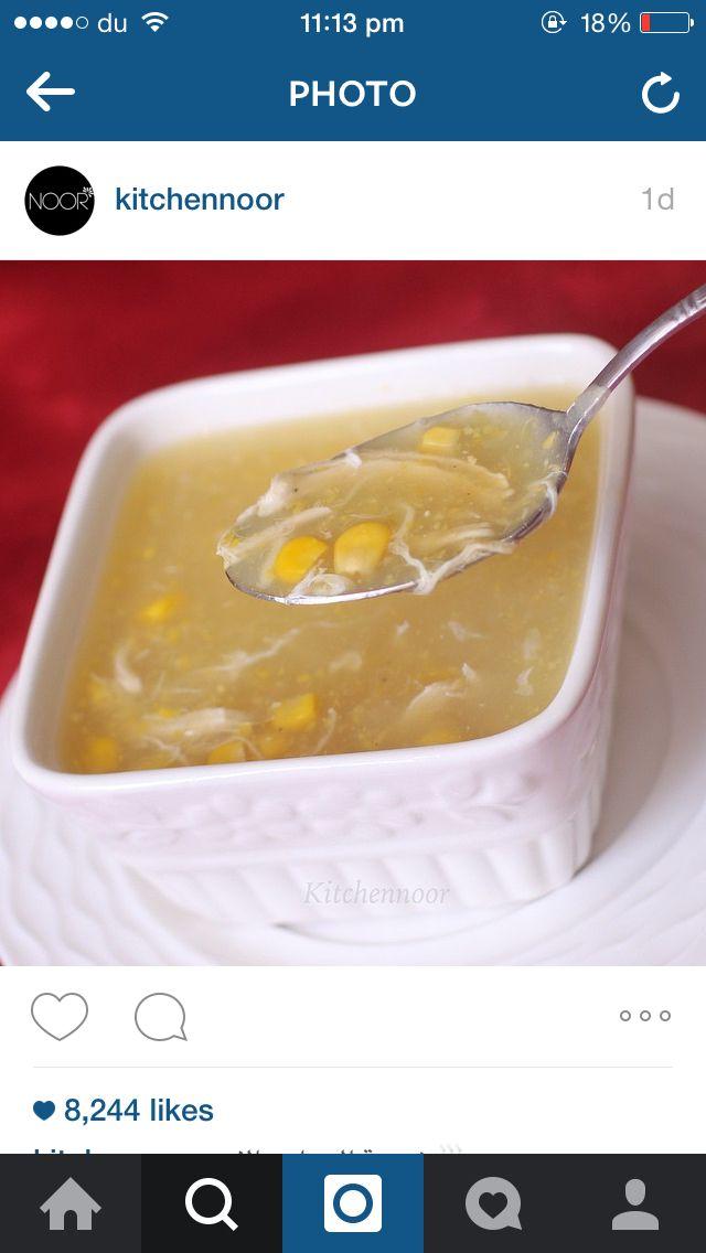 شوربة الدجاج مع الذره Recipes Tasty Food