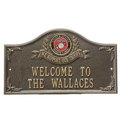 Personalized United States Marines Wall Plaques $99.99