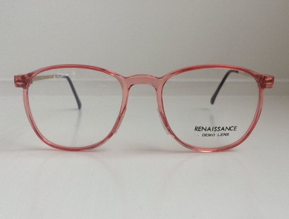 e4ce3ff1a3 Vintage Pink Eyeglass Frames Oversized by FairestInTheLandoll ...