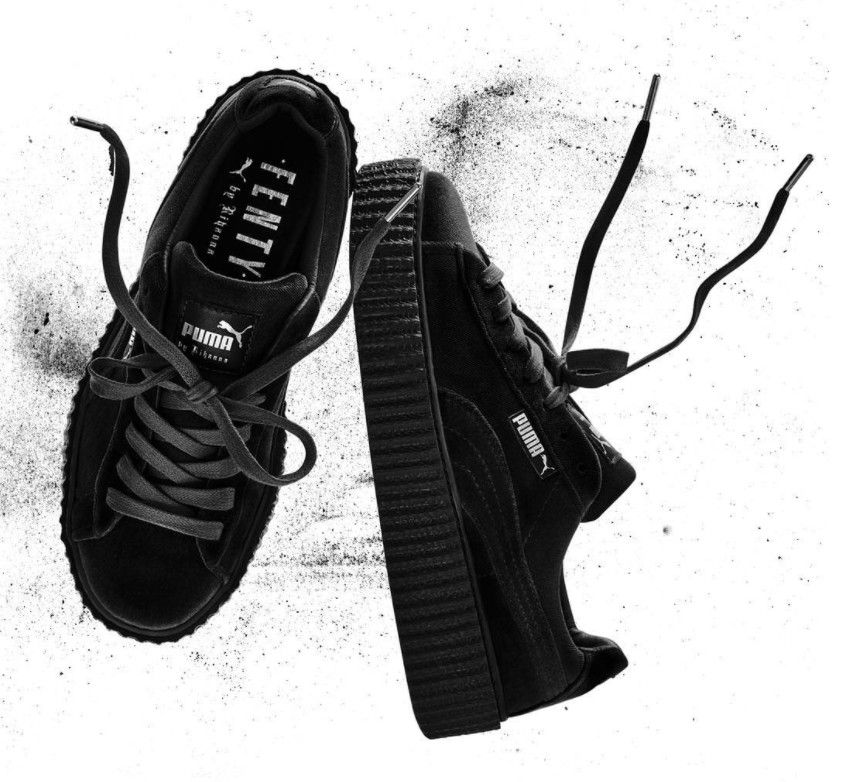 Rihanna Puma Creeper Black Velvet | Womens shoes high heels ...