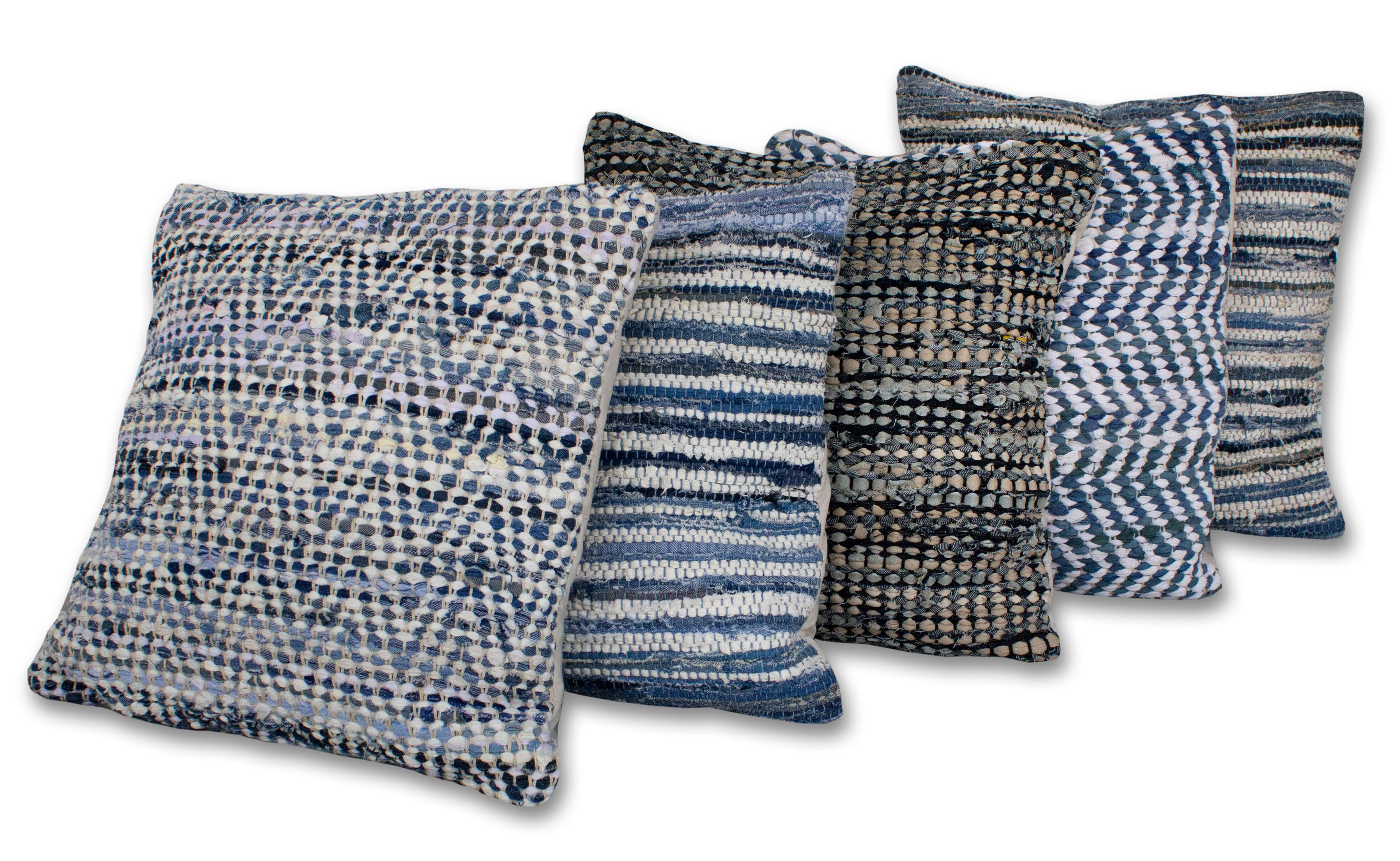 A Selection Of Our Upcycled Sustainable Cushions Made