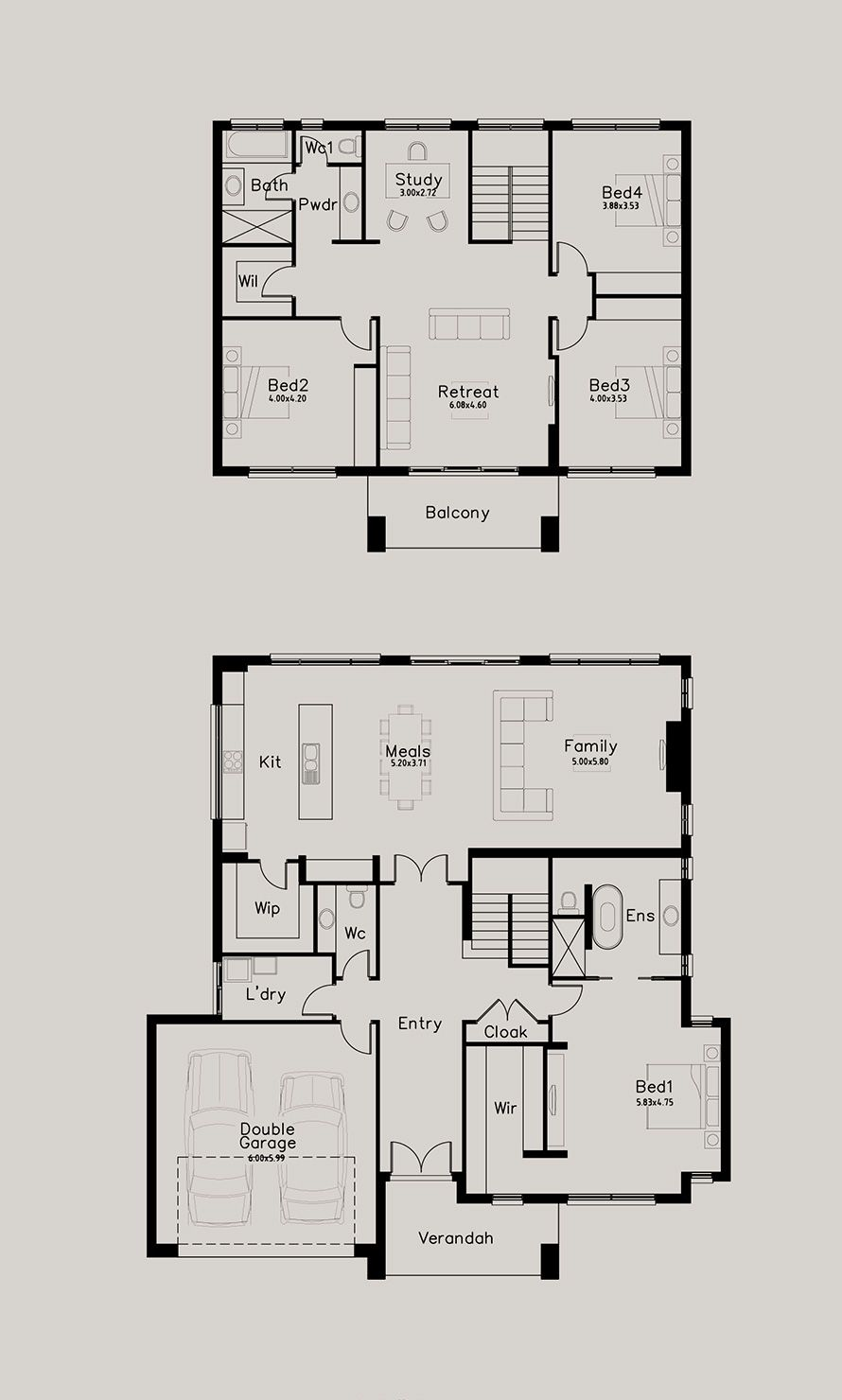 Highmore Dechellis Homes Two Storey House Plans Home Design Floor Plans My House Plans