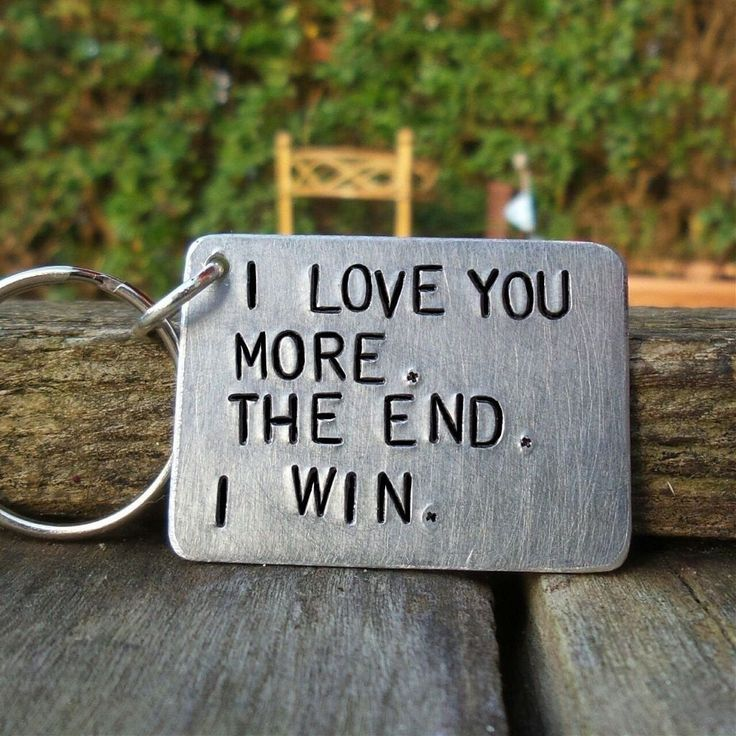 I Love You More The End I Win KeyRing Funny Gifts Boyfriend Girlfriend Keychain For Men Him Her Birthday Personalised Wife Husband Mum Mummy