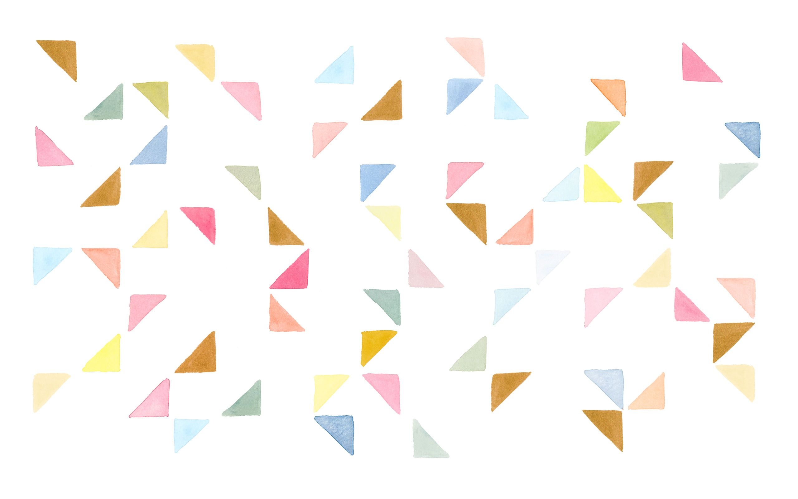 watercolor triangles theres something soothing about this geometric pattern we could stare at it all day via designlovefest