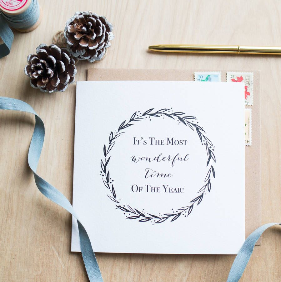 It\'s The Most Wonderful Time Of The Year Christmas Card designed by ...
