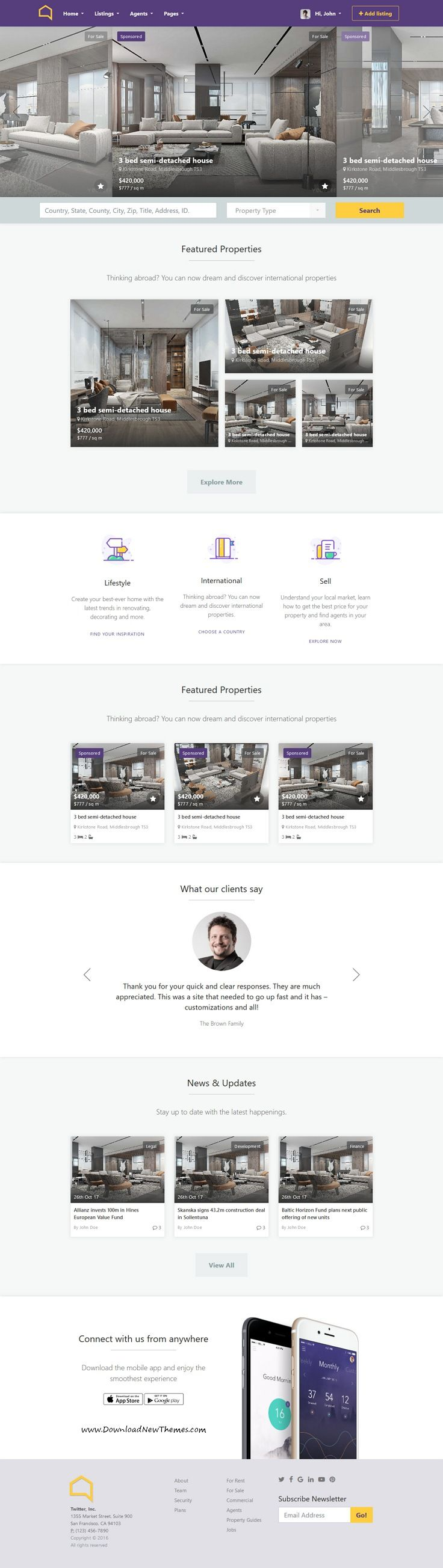 Listo real estate bootstrap 40 html template list website listo is clean and modern design 7in1 responsive html bootstrap template for professional realestate agents flashek Choice Image