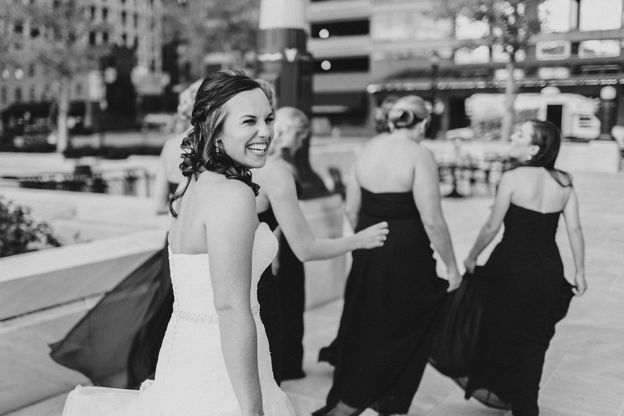Natalie Jordan Columbus Ohio Wedding Blush Bridesmaid