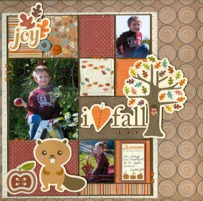Cute Fall Page For Scrapbook Scrapbook Pinterest Scrapbook