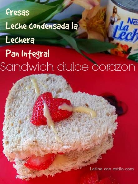 receta de desayuno Corazón dulce