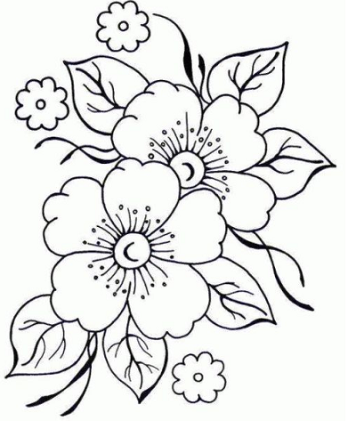 imagenes de flores lindas para colorear | Tattoos | Pinterest | Wood ...