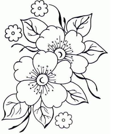 Imagenes de flores lindas para colorear flores for Plantas para dibujar