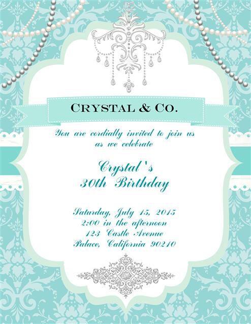 Tiffany Co Birthday Invitations Invitations Tiffany Blue Wedding Invitation Tiffany Party