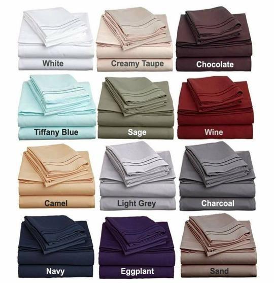 Clara Clark Sheets Bedding Memory Foam Pillows Bed Sheets