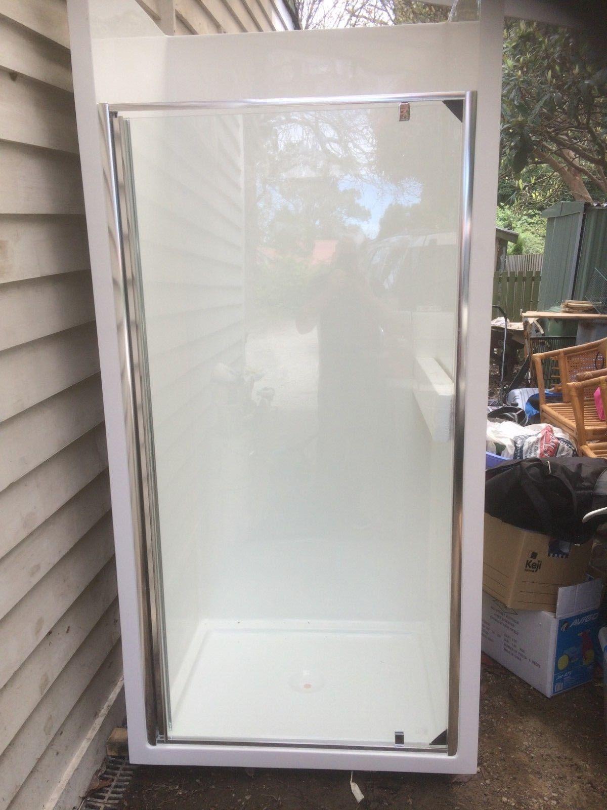 900mm Wide Medium Shower Screen Fibreglass Rv Caravan Enclosure