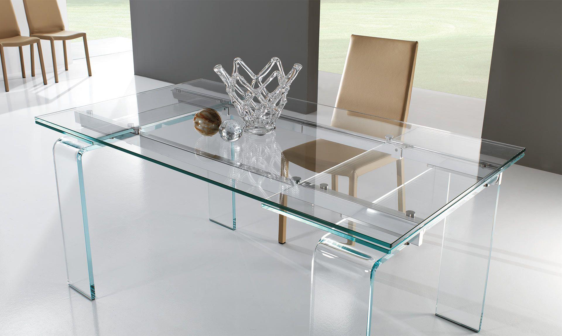 Tavolo Deco ~ Tavolo in cristallo plano anch esso allungabile il tavolo plano è