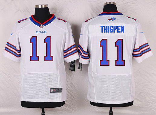 e4591794d30 Buffalo Bills 11 Marcus Thigpen White Road NFL Nike Elite Mens Jersey ...
