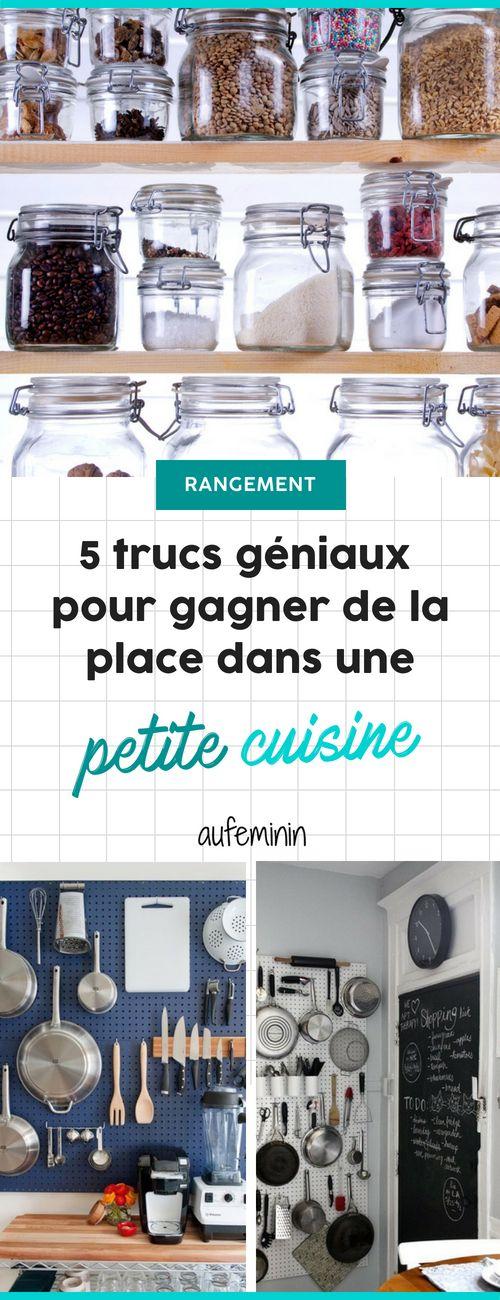 5 astuces pour gagner de la place dans ta micro cuisine Pinterest