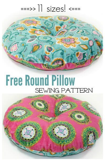 Free Round Pillow Sewing Pattern | Round pillow, Patterns and Sewing ...