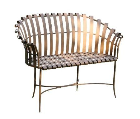 Marvelous Napco Metal Garden Bench 48 Inch Long By 35 Inch Tall Gmtry Best Dining Table And Chair Ideas Images Gmtryco
