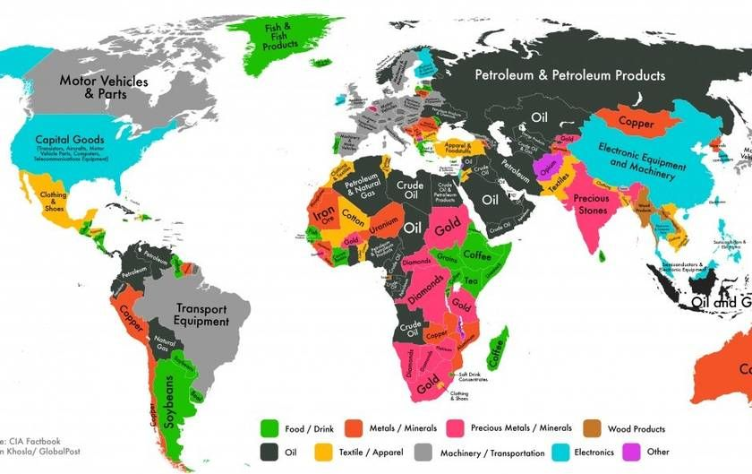 what, one, product, makes, the, most, money, for, each, nation - best of world map estonia highlighted