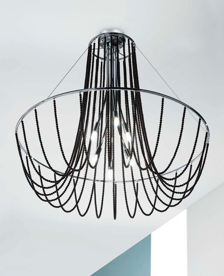 Fall 6 Light Chandlier Comes In Chrome Finish Decorations Available In The Following Options Crystal Pe Rustic Lamp Shades Ceiling Lights Ceiling Lamp Shades