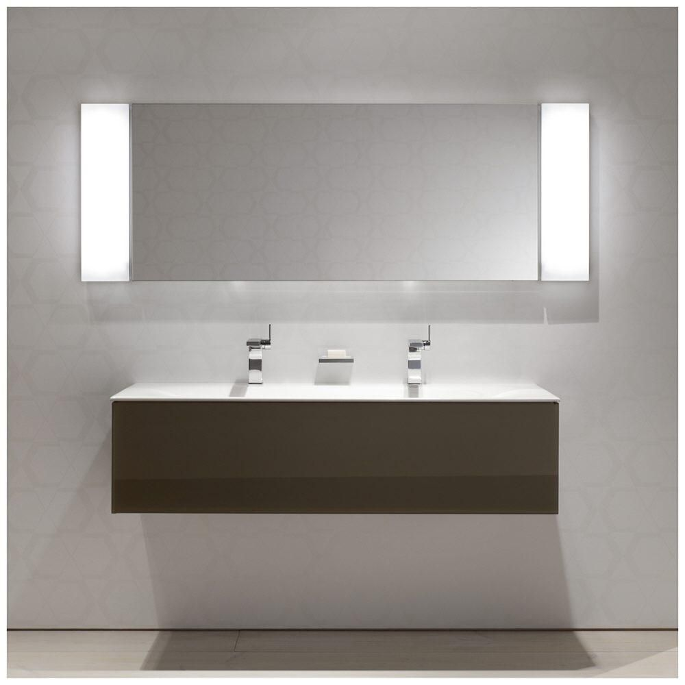 Keuco edition double sink wall hung vanity a d