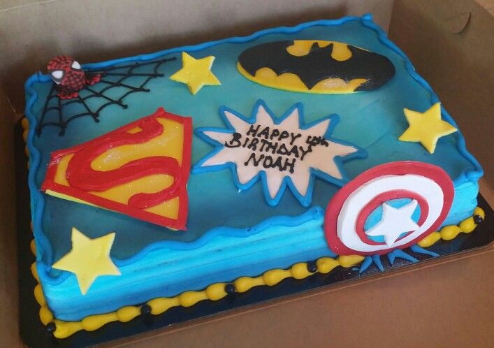 Superhero Boys Cake Cake Decorating Ideas Pinterest Birthday