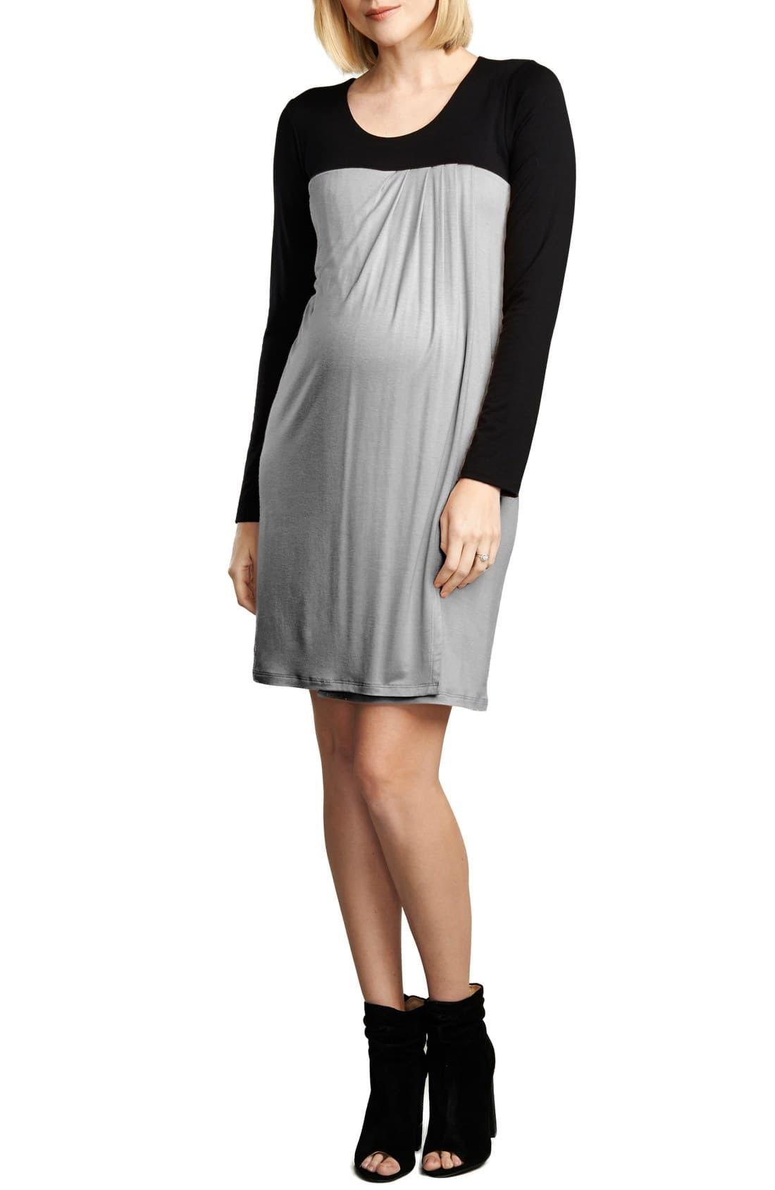 dc8f516d5266c Women's Maternal America Baby Doll Maternity/nursing Dress, Size X-Small -  Grey