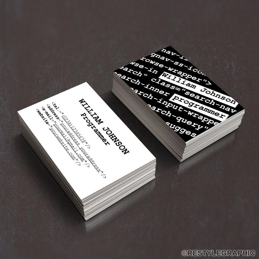 Lovely Programmer Business Card Check More At Https Limorentalphiladelphia Com Progra Business Card Design Double Sided Business Cards Business Card Software