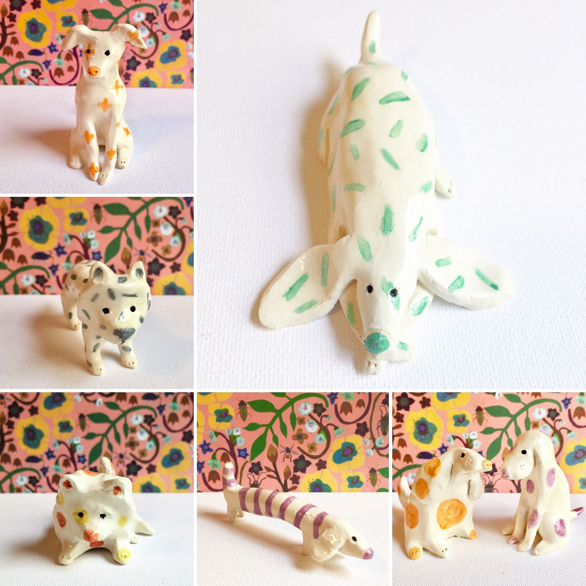 A Batch Of Small Dogs By Ceramicsnippets Available Etsy