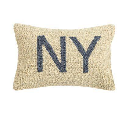 Winston Porter Ohlone Virginia Hook Wool Lumbar Pillow In 2021 Hooked Wool Pillows Hooked Pillow