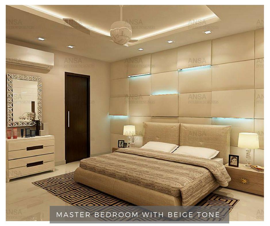 Minimalist Bedroomdesign Ideas: Master Bedroom With Beige Tone # Bedroomdesign #bedroom