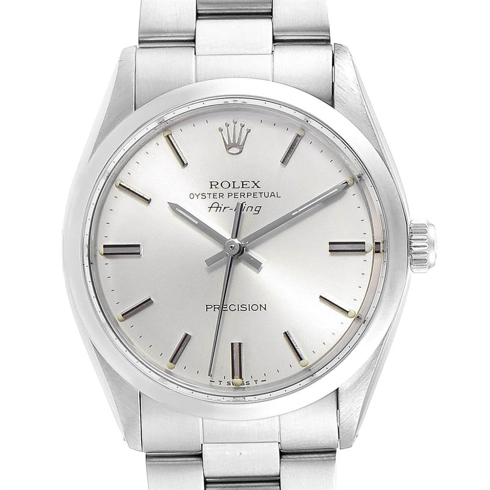 Rolex Air King Vintage Stainless Steel Silver Dial Mens