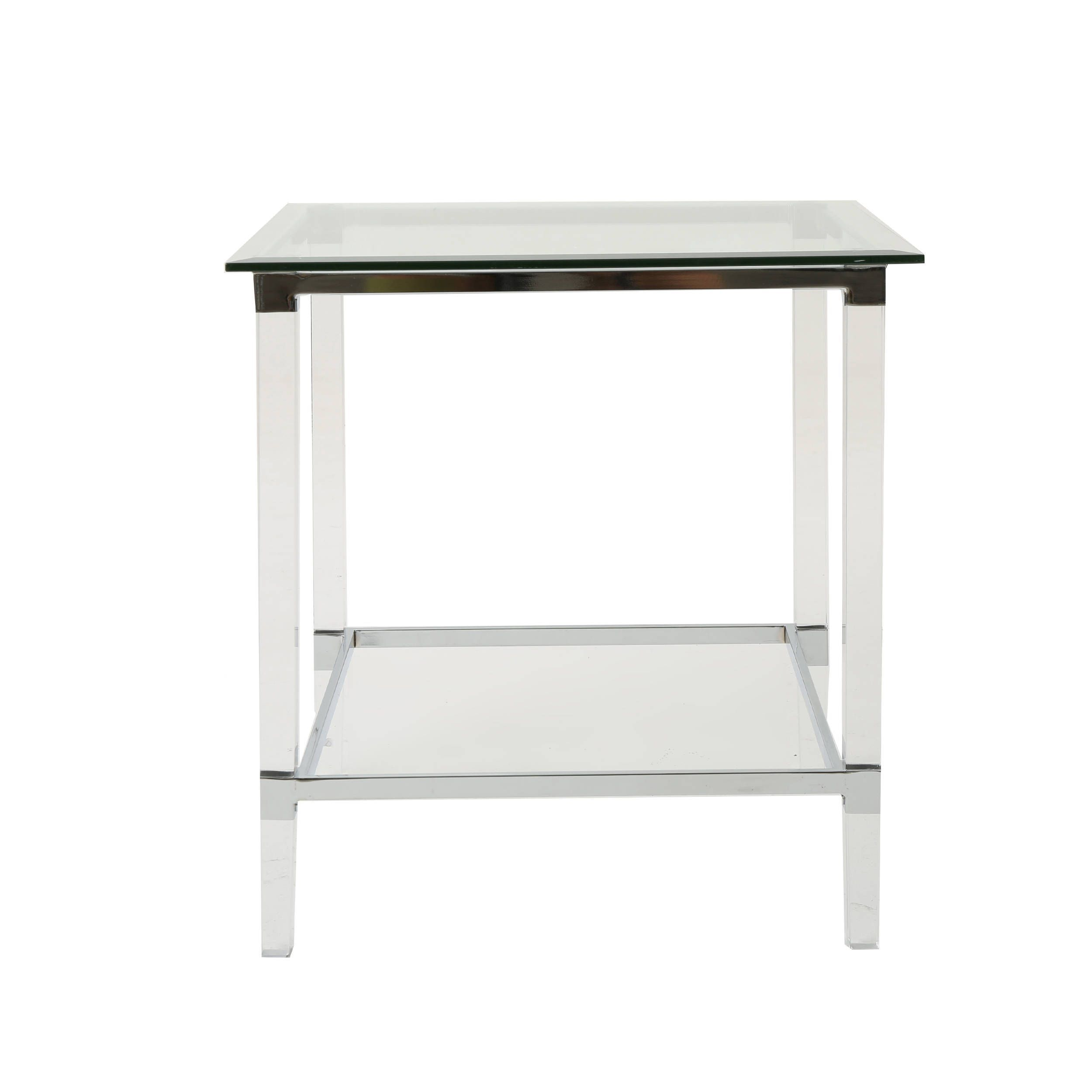 Modrest Snyder Modern Square Glass End Table With Images Glass