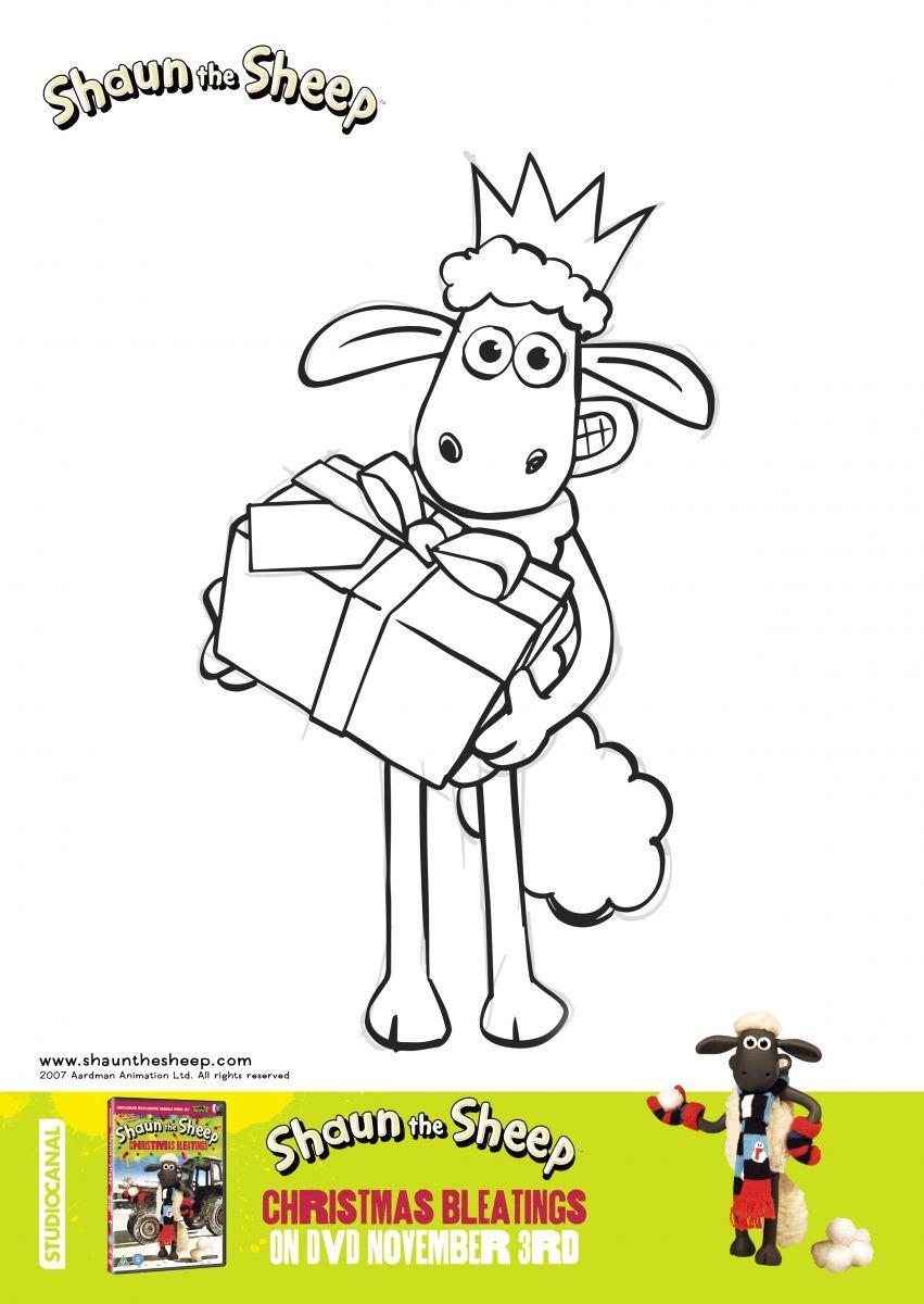 Shaun the Sheep Christmas Bleatings Colouring Sheet 2.jpg 851×1,200 ...