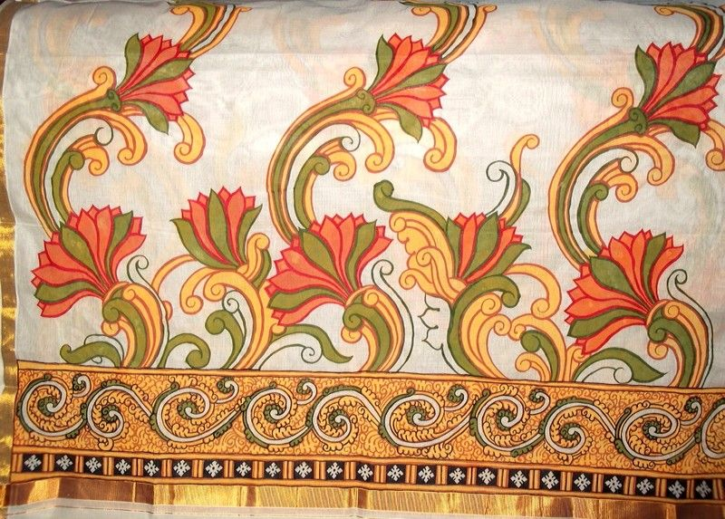 Border kerala murals pinterest mural painting mural for Mural painting designs