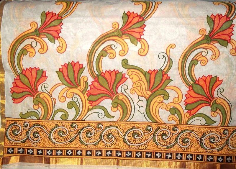 Border kerala murals pinterest mural painting mural for Mural painting designs