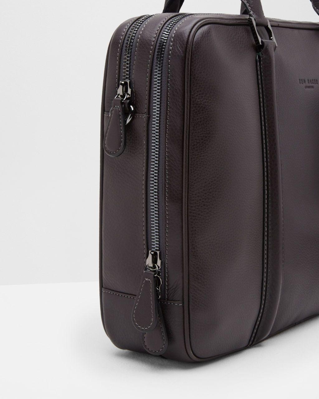 5dbea8c1b1 Leather document bag - Charcoal