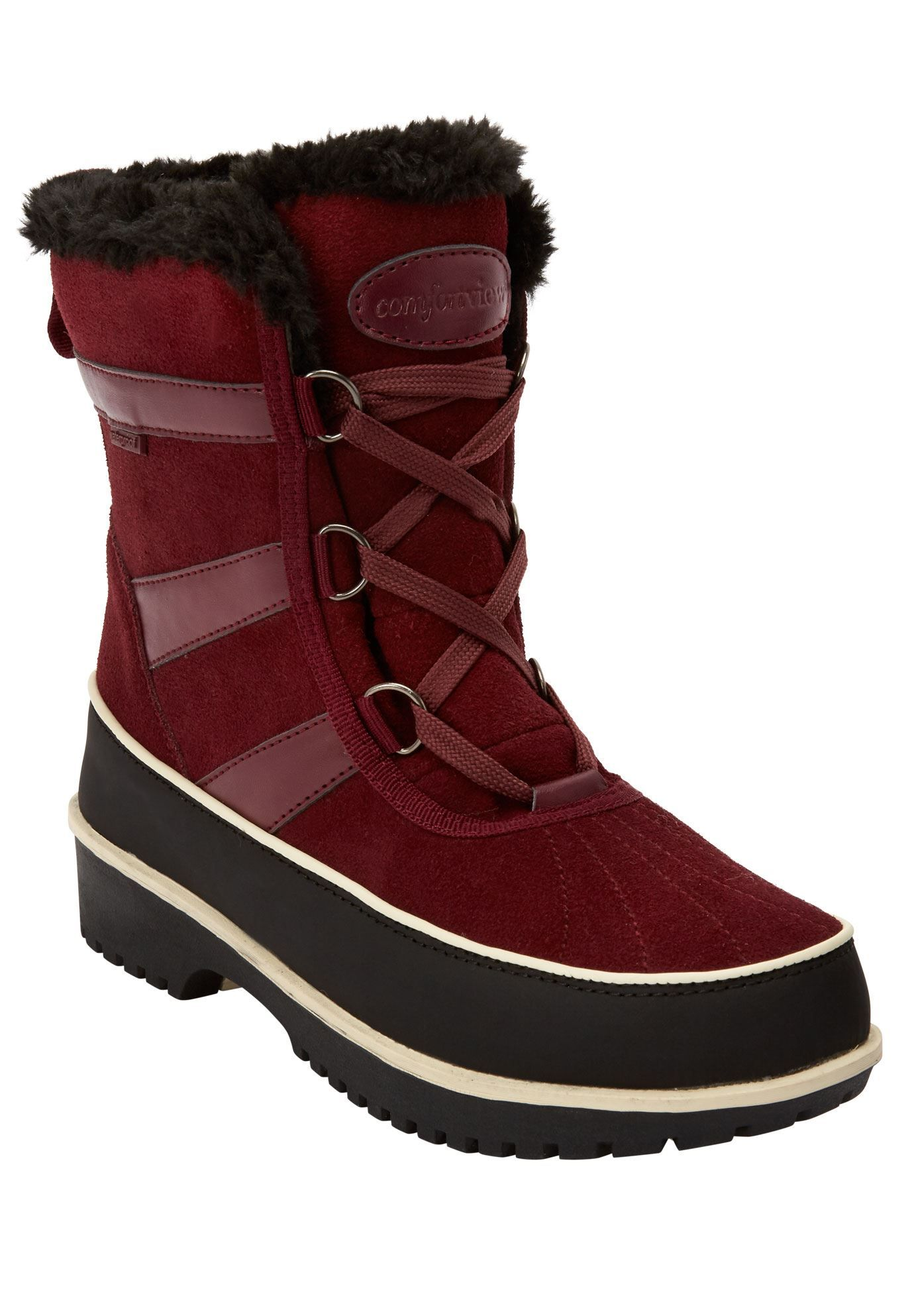 attractive colour compare price get new The Brienne Waterproof Boot by Comfortview - Women's Plus ...
