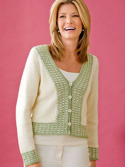 cad2ff30e Spring Fling FREE knit cardigan pattern download. Find this pattern at  Free-KnitPatterns.com.