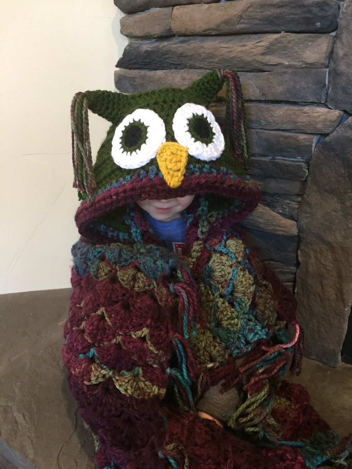Child owl blanket hooded owl blanket crochet owl blanket owl child owl blanket hooded owl blanket crochet owl blanket owl blanket pillow by bankloansurffo Gallery