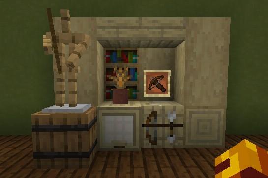 Fletching Desk Design Minecraft Minecraft Room Minecraft Interior Design Minecraft Designs