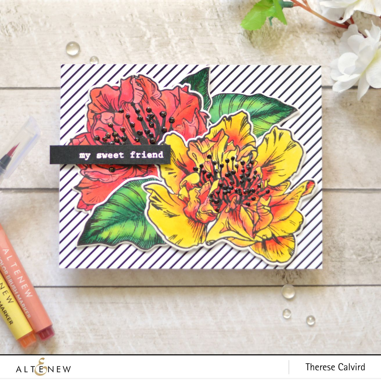 Video Altenew Watercolor Brush Markers Release Blog Hop