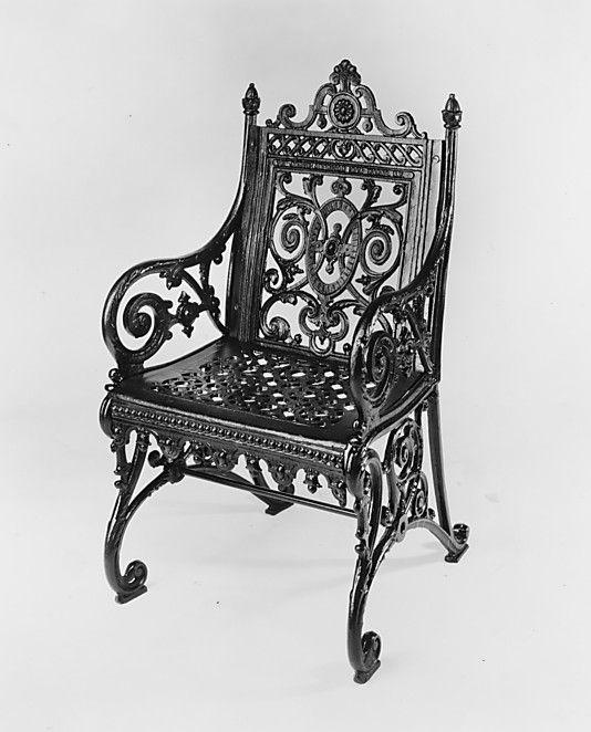 armchair north american iron work 1877 1897 metropolitan museum garden furniture became. Black Bedroom Furniture Sets. Home Design Ideas