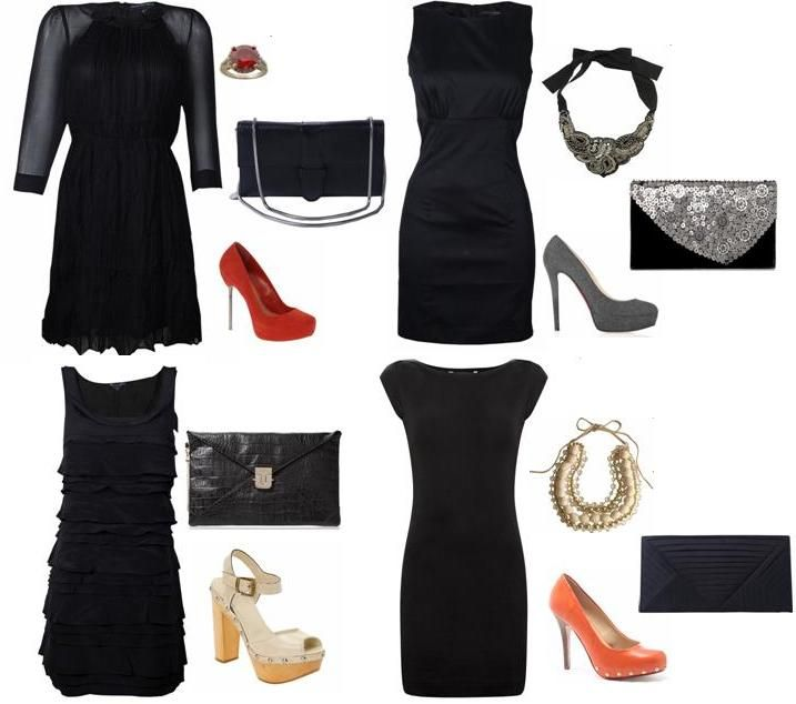 black dresses accessories | how much do you like this LBD look ...